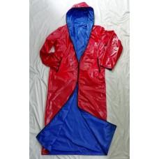 Shiny nylon unisex wet look reversible coat wind coat M - 3XL 1090RC