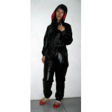 Glossy nylon wet look jumpsuit S - 5XL 1077JS