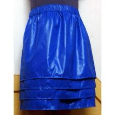 Glossy nylon wet look petticoat tiered skirt 1065TS