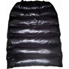 Glossy nylon wet look skirt winter skirt down skirt black S - 3XL 1055DR-B