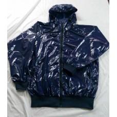 Coated shiny nylon wet look windbreaker wind jacket S - 3XL 1089WJ