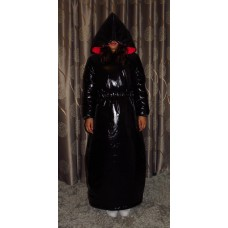 Coated glossy nylon wet look down coat winter dress M - 3XL 1084DK