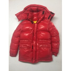 Unisex glossy nylon wet look winter jacket down jacket S - 3XL 1088DJ