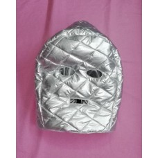 Glossy silver wet look down mask winter mask M - 3XL 1086WM