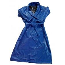 Glossy nylon wet look bathrobe nightgown M - 3XL 1060BM-B