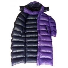 Unisex glossy nylon wet look winter coat down coat long coat M - 3XL 1061DM